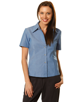 Picture of Winning Spirit - BS05 - Ladie's Wrinkle Free Short Sleeve Chambray Shirts