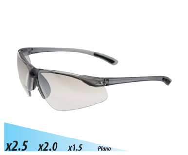 Picture of VisionSafe -101SM-2.5 - Silver I/O Mirror Safety Glasses