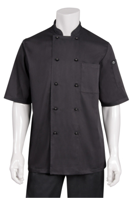 Picture of Chef Works - CBBS - Canberra Black SS Basic Chef Coat