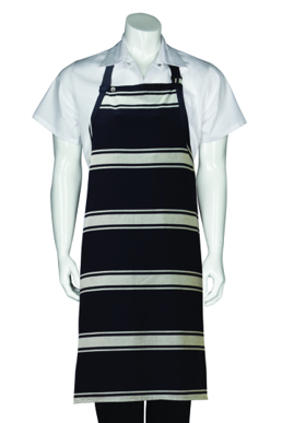 Picture of Chef Works - BSBA - Navy Butcher Stripe Bib Apron