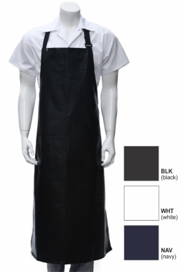 Picture of Chef Works - CWPVL-NAV - Navy Long PVC Bib Apron