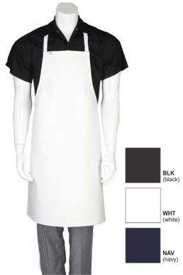 Picture of Chef Works - CWPVS-NAV - Navy Short PVC Bib Apron