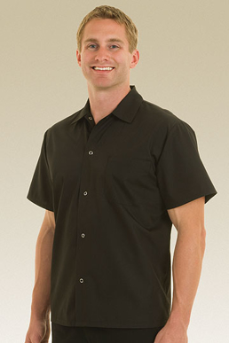 Picture of Chef Works - KCBL - Black Utility Cook Shirt w Snaps