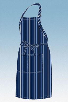Picture of Chef Works - A500-BCM - BrownCream Striped Bib Apron
