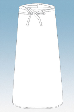 Picture of Chef Works - CFLA-WHT - White Chefs Full Length Apron