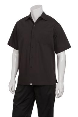 Picture of Chef Works - C100-BLK - Black Café Shirt