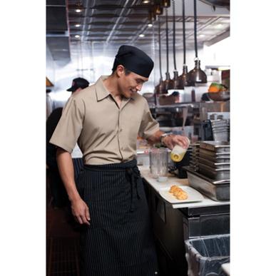 Picture of Chef Works - C100-KHA - Khaki Café Shirt