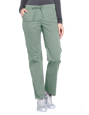 Picture of CHEROKEE-CH-WW160-Cherokee Workwear Professionals Women's Drawstring Mid Rise Straight Leg Pant