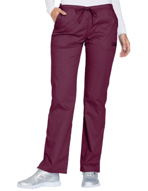 Picture of CHEROKEE-CH-WW130-Cherokee Workwear Core Stretch Women's Mid Rise Straight Leg Drawstring Pant