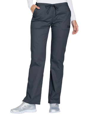 Picture of CHEROKEE-CH-WW130P-Cherokee Workwear Core Stretch Women's Mid Rise Straight Leg Drawstring Petite Pant