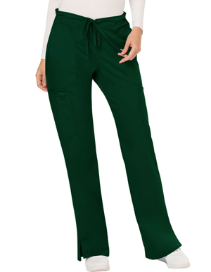 Picture of CHEROKEE-CH-WW120-Cherokee Workwear Revolution Womens Mid Rise Moderate Flare Drawstring Pant