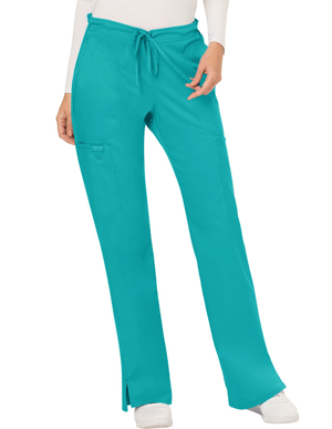 Picture of CHEROKEE-CH-WW120T-Cherokee Workwear Revolution Womens Mid Rise Moderate Flare Drawstring Tall Pant