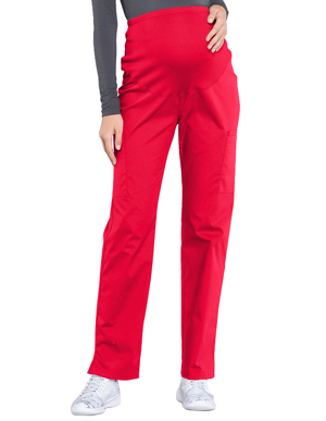 Picture of CHEROKEE-CH-WW220-Cherokee Workwear Professionals Maternity Knit Waist Straight Leg Pant