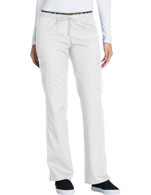 Picture of CHEROKEE-CH-CK003-Cherokee Luxe Sport Womens Mid Rise Straight Leg Pull-on Scrub Pant