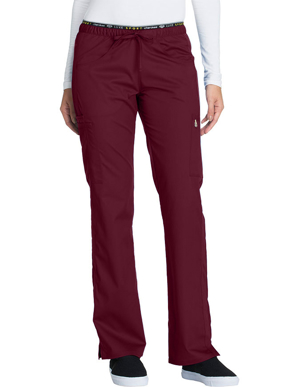 Picture of CHEROKEE-CH-CK003P-Cherokee Luxe Sport Womens Petite Mid Rise Straight Leg Pull-on Scrub Pant