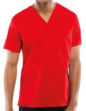 Picture of CHEROKEE-CH-4876-Cherokee Workwear Unisex Three Pocket Scrub Top