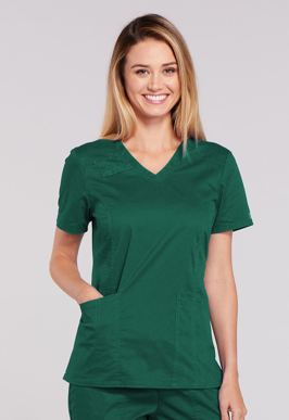 Picture of Cherokee Uniforms-4710-Cherokee Workwear Core Stretch Women's V-Neck Top