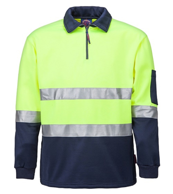 Picture of Ritemate Workwear-RM6012R-Half Zip Fleecy Pullover with 3M Reflective Tape