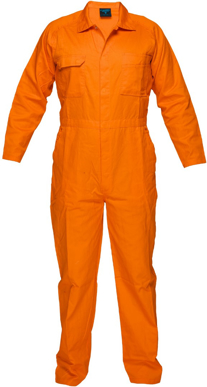 Picture of Prime Mover-MW922-LIGHTWEIGHT ORANGE COVERALLS