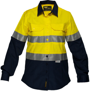 Picture of Prime Mover-ML108-Ladies Cotton Drill Shirt