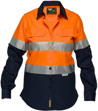 Picture of Prime Mover-ML808-Ladies Lightweight Cotton Drill Shirt