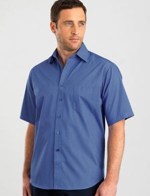 Picture of John Kevin Uniforms-465 Sapphire-Mens Short Sleeve Tonal Stripe