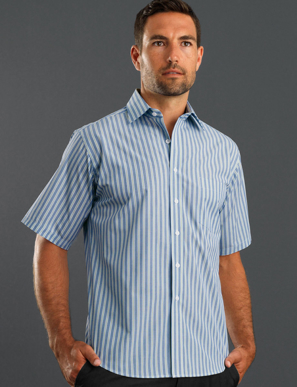 Picture of John Kevin Uniforms-423 Forest-Mens Short Sleeve Fashion Stripe