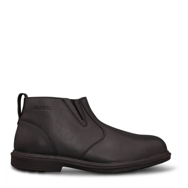 Picture of Oliver Boots-38-265-BLACK ZIP SIDE BOOT