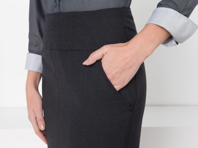 Picture of LSJ collection-303-ME-Ladies Pencil line pocket skirt