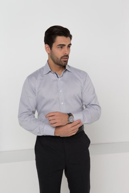 Picture of LSJ collection-2023L-NW-Mens Long sleeve euro fit shirt with contrast inner collar & cuff