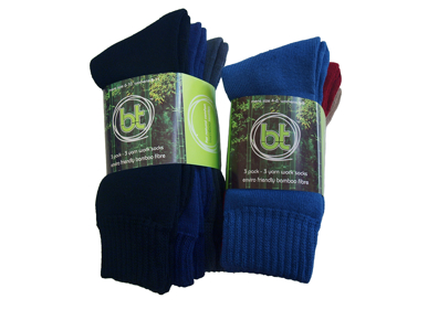 Picture of Bamboo Textiles-BA3PK3YARN-3-Pack 3-Yarn Work Socks