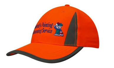 Picture of Headwear Stockist-3029-Luminescent Safety Cap with Reflective Inserts and Trim