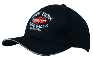Picture of Headwear Stockist-4009-Breathable Poly Twill with Sandwich Trim