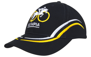 Picture of Headwear Stockist-4075-Brushed Heavy Cotton with Curved Embroidery on Crown and Peak