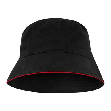 Picture of LW Reid-T4900B-Sturt Cotton Bucket Hat with Trim