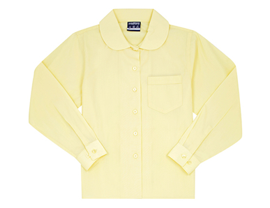 Picture of Midford Uniforms-BLOL5041-GIRLS LONG SLEEVE PETER PAN SCHOOL BLOUSE(5041)