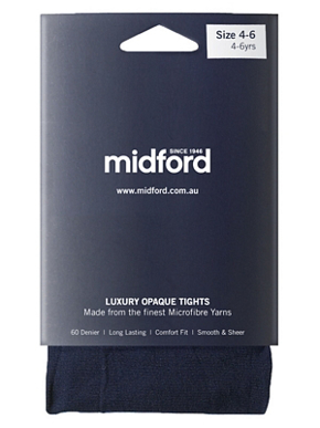Picture of Midford Uniforms-TIG900-GIRLS MICROFIBRE TIGHTS(T900G)