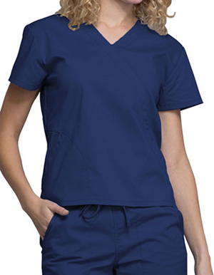 Picture of Cherokee-CH-WW705-Cherokee Workwear WW Professionals Women's Mock Wrap Top