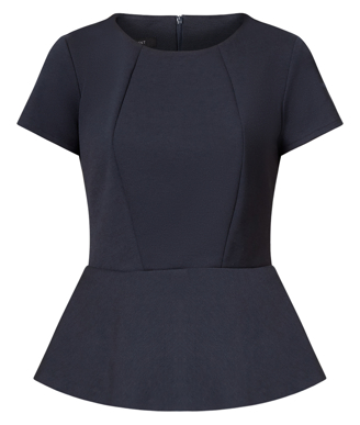 Picture of NNT Uniforms-CAT9S1-NAV-Cap Sleeve Peplum Top