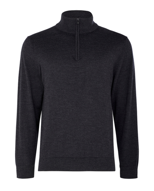 Picture of NNT Uniforms-CATE37-DCP-Long Sleeve Zip Neck Jumper