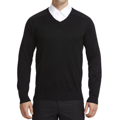 Picture of NNT Uniforms-CATE33-BLK-V-Neck Sweater