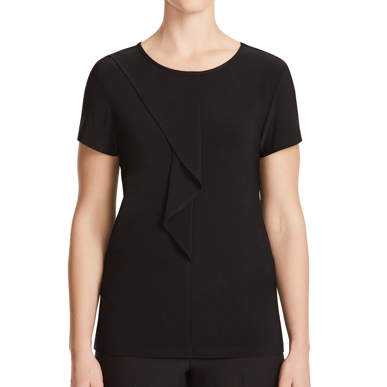 Picture of NNT Uniforms-CATU64-BLK-Short Sleeve Round Neck T-Top