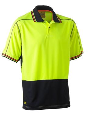 Picture of Bisley Workwear-BK1219-Hi Vis Polyester Mesh Polo Short Sleeve
