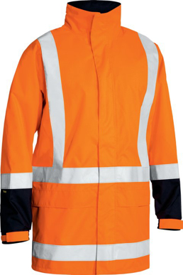 Picture of Bisley Workwear-BJ6967T-Taped Hi Vis Rain Shell Jacket (Waterproof)