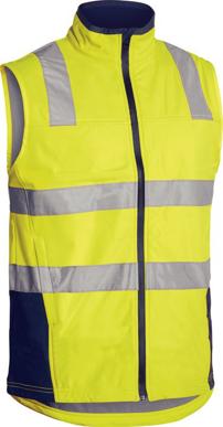 Picture of Bisley Workwear-BV0348T-Taped Hi Vis Soft Shell Vest
