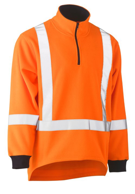 Picture of Bisley Workwear-BK6249XT-Taped Ttmc-W Hi Vis Polar Fleece Jumper With X Back