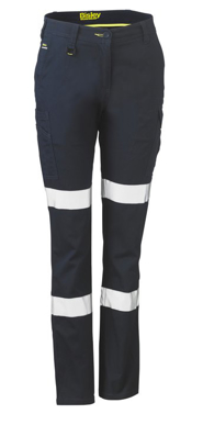Picture of Bisley Workwear-BPL6115T-Womens Taped Cotton Cargo Pants