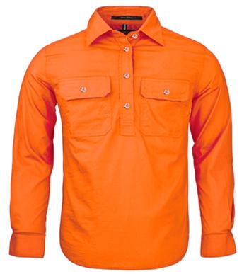 Picture of Ritemate Workwear-RM400CF-Kid's Pilbara Shirt Shirts