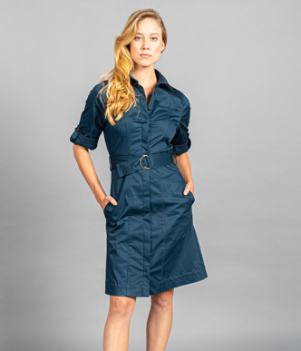 Picture of Gloweave-1894WD-WOMEN'S RILEY SHIRT DRESS - BUSINESS CASUAL