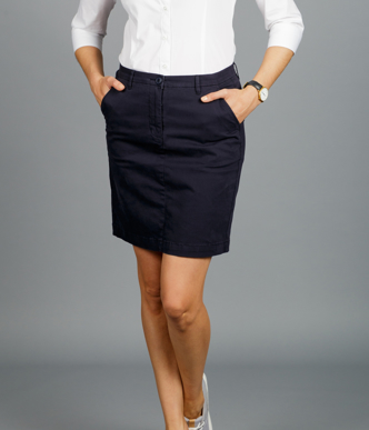 Picture of Gloweave-1763WSK-WOMEN'S CHINO SKIRT - BUSINESS CASUAL
